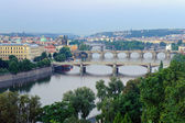 View on Prague Bridges at sunrise — Stock Photo