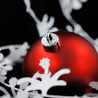 Christmas decoration with white garland. Shallow deep focu — Stock fotografie