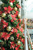 Christmas decorated tree — Stock Photo
