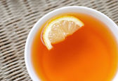 Tea with a lemon — Stock Photo