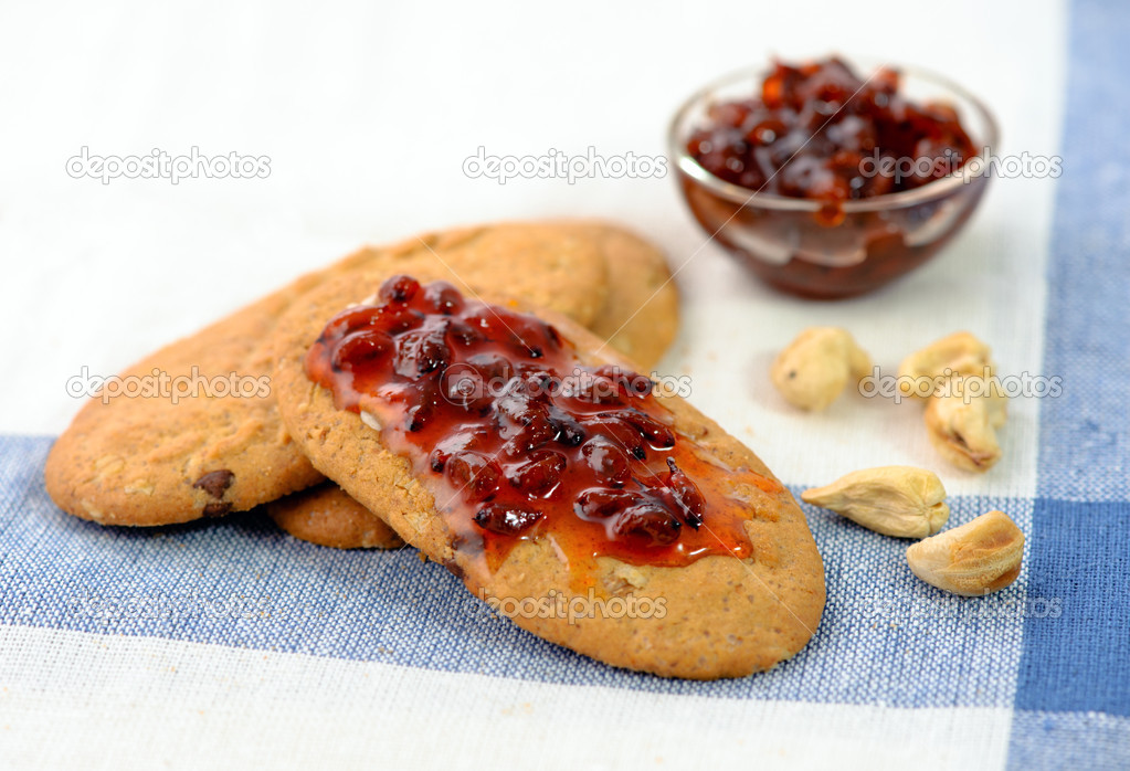 Pastry with a jam. Shallow deep focus — Stock Photo #4416355