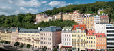 Panorama city center in Karlovy Vary — Stock Photo