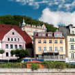 Panoramof Karlovy Vary in Czech Republic — Stock Photo #4737653