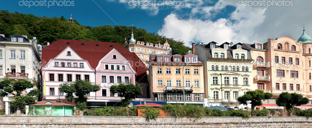 Karlovy Vary Czech Republic  city images : Panorama of Karlovy Vary in Czech Republic — Stock Photo © io nia ...