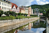 City center in Karlovy Vary. Czech Republic — Stock Photo