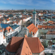 View over the city of Munich from the tower of Saint Peter - Stock Photo