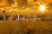 新加坡的天际线 — 图库照片