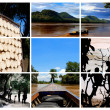 Stock Photo: Collage from Laos