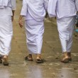 Buddhist religious women walking — Stock Photo
