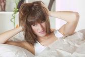 Woman oversleeping — Stock Photo