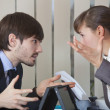 Two office workers in conflict — Stock Photo #4280812