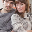 Couple resting at home — Stockfoto