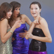 Gossip party girls — Stockfoto