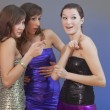 Gossip party girls - Stock Photo