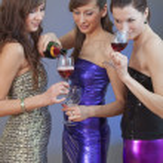 Girls drinking on disco — Stock Photo #4584105