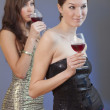 Party girls with drinks — Stock Photo