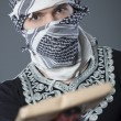Man with mail bomb - Stock Photo
