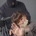 Punisher and victim — Stock Photo