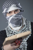 Man with mail bomb — Stock Photo
