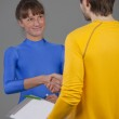 Personal trainer and fitness woman — Stock Photo