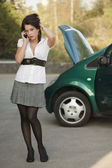 Problems with car — Stock Photo