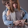 Fashion couple — Stock Photo