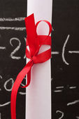Chalkboard with a diploma — Stockfoto