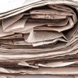 Stack newspapers — Stock Photo