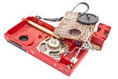 Broken analog radio device — Stock Photo