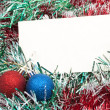 Blank christmas greeting card — Stock Photo #4411194