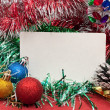 Blank christmas greeting card — Stock Photo #4411211