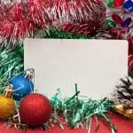 Blank christmas greeting card — Stock Photo