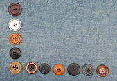Buttons on jeans — Stock fotografie
