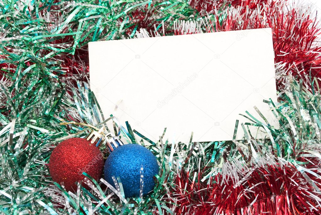 Blank christmas greeting card   Stock Photo #4411194