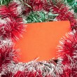 Blank christmas greeting card — Stock Photo