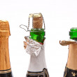 Champagne bottles — Stock Photo