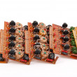 Electronic circuit plates - Stock Photo