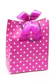 Pink bag with bow — Stock Photo