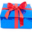 Gift box with red bow — Stock Photo #5352506