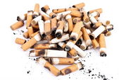 Cigarette butts — Stock Photo