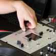 Royalty-Free Stock Photo: Hand of a dj adjusting the crossfader