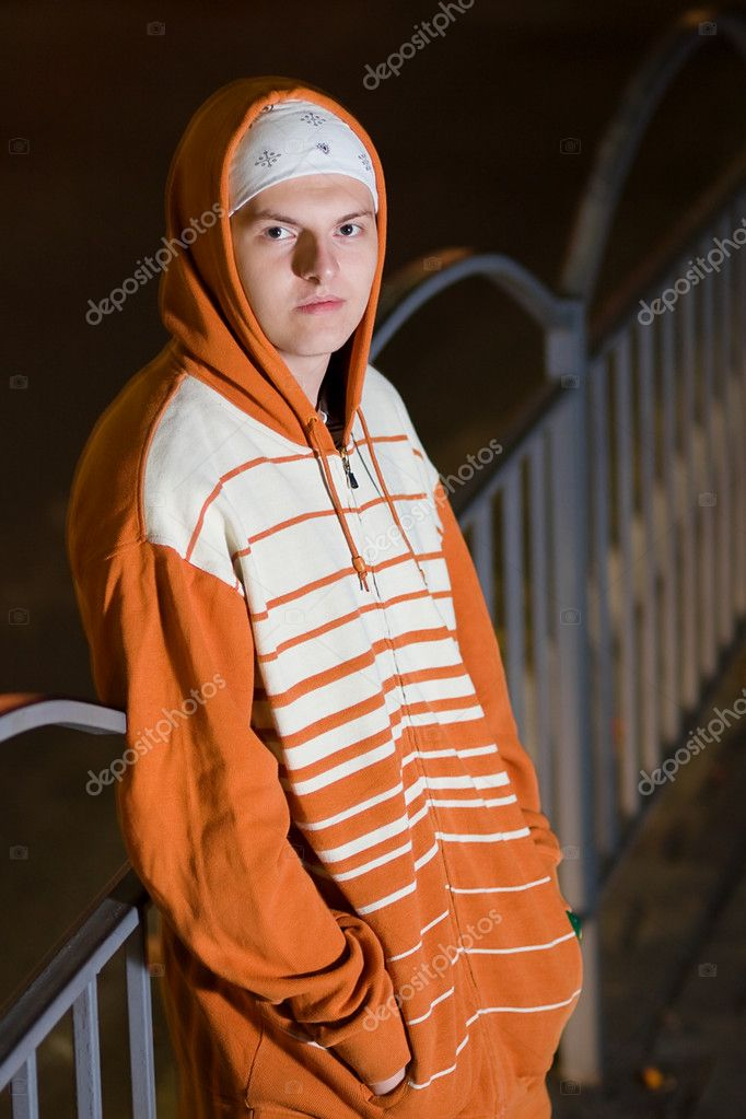 Street gang member on the street — Stock Photo #3935048