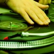 Hip-hop DJ scratching record — Stock Photo #4067980