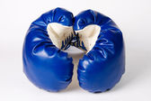 Pair of boxing gloves on white — Stock Photo
