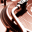 Turntable playing vinyl record — Stock Photo #4123594