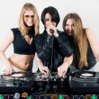 Female Djs and a singer — Stock Photo #4300940
