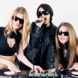 Female Djs and a singer — Stock Photo #4300984