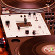 Turntable and mixing controller - Stok fotoğraf