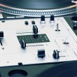 Mixing controller and turntables - Stok fotoğraf