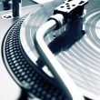 Stock Photo: Needle on vinyl record
